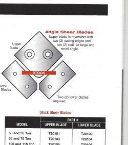 edwards angle shear knifes