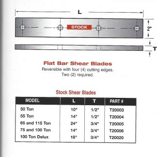 edwards flat shear blades