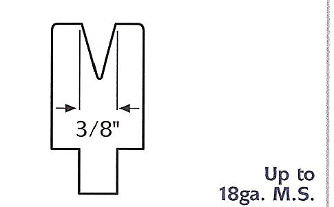 """3/8"""" v-die acute press brake die"""