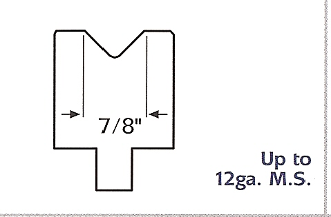 """7/8"""" urethane press brake die"""