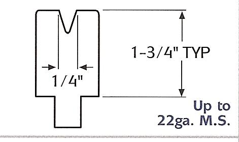 "1/4"" acute v-opening urethane press brake die"