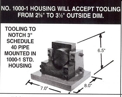 1000-1 pipe notcher housing