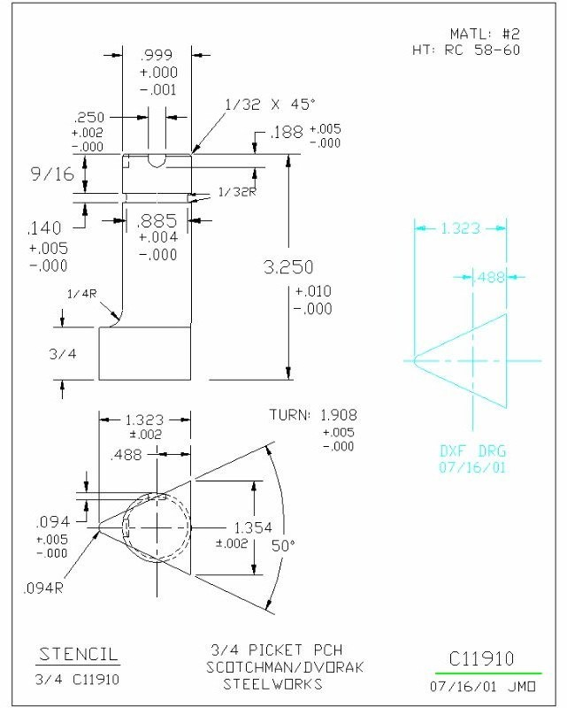 Picket Tool for Scotchman Punch | JR Machinery Online Store