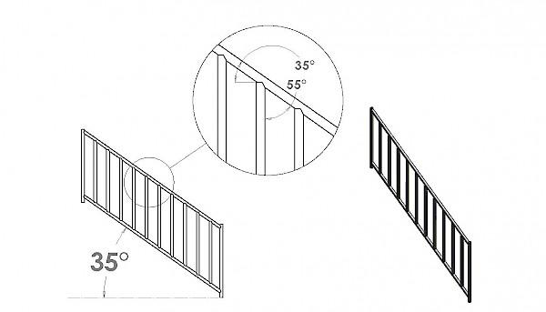35 degree stairway notcher